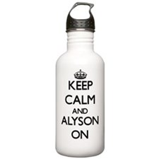 Keep Calm and Alyson O Water Bottle