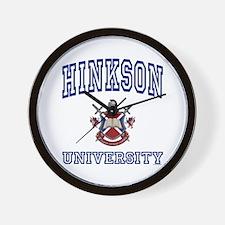 HINKSON University Wall Clock