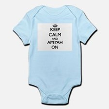 Keep Calm and Amiyah ON Body Suit