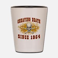 Cheating Death 1954 Shot Glass