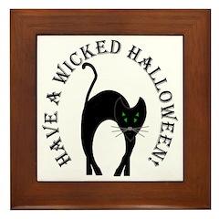 Wicked Halloween! Framed Tile