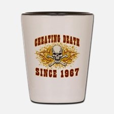 Cheating death 1967 Shot Glass