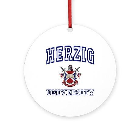HERZIG University Ornament (Round)