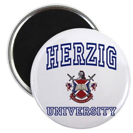 "HERZIG University 2.25"" Magnet (10 pack)"