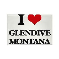 I love Glendive Montana Magnets