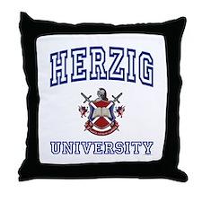 HERZIG University Throw Pillow