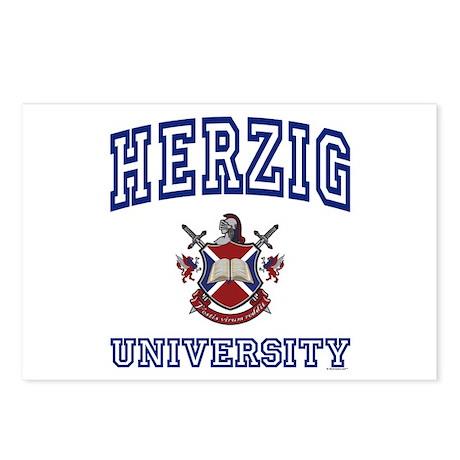 HERZIG University Postcards (Package of 8)