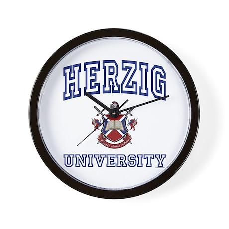 HERZIG University Wall Clock