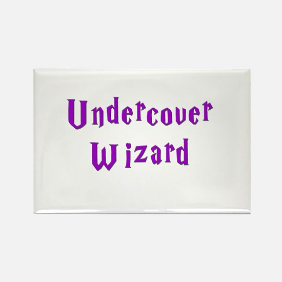 Undercover Wizard Rectangle Magnet