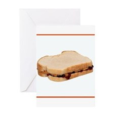 Peanut Butter and Jelly Sandwich Greeting Cards