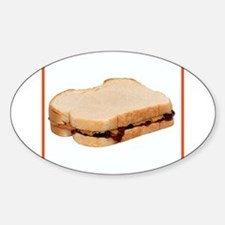 Peanut Butter and Jelly Sandwich Decal