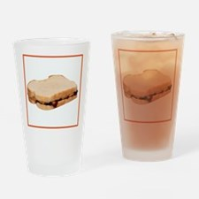 Peanut Butter and Jelly Sandwich Drinking Glass