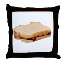 Peanut Butter and Jelly Sandwich Throw Pillow
