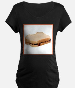 Peanut Butter and Jelly Sandwich Maternity T-Shirt