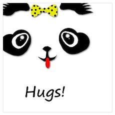 Panda Bear Hugs Poster