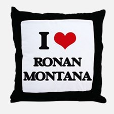 I love Ronan Montana Throw Pillow