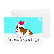 Beagle Santa Greeting Card