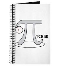 Funny Baseball Pi-tcher Journal
