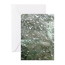Rain Drops Greeting Cards