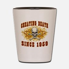 Cheating Death 1959 Shot Glass