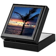 Beach Sunset Palm Tree Keepsake Box