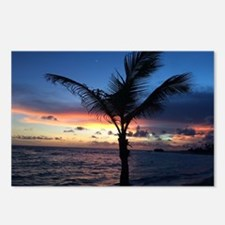 Beach Sunset Palm Tree Postcards (Package of 8)