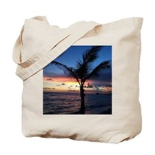 Beach Sunset Palm Tree Tote Bag