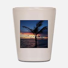 Beach Sunset Palm Tree Shot Glass