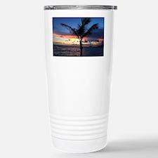 Beach Sunset Palm Tree Travel Mug