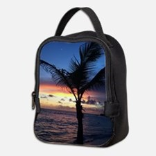 Beach Sunset Palm Tree Neoprene Lunch Bag