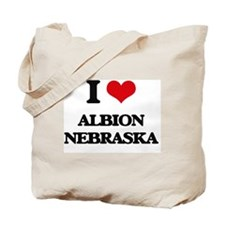 I love Albion Nebraska Tote Bag