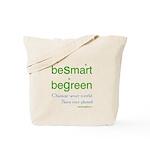 beSmart beGreen Tote Bag - reusable grocery bags