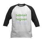 beSmart beGreen Kids Baseball Jersey