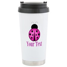 Purple Ladybug Travel Mug
