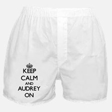 Keep Calm and Audrey ON Boxer Shorts
