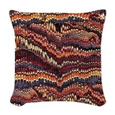 Vintage Marbled Paper Woven Throw Pillow