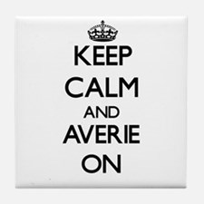 Keep Calm and Averie ON Tile Coaster