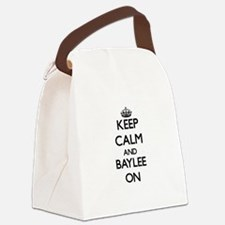 Keep Calm and Baylee ON Canvas Lunch Bag