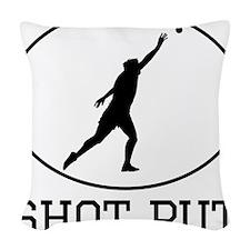 Shot Put Woven Throw Pillow