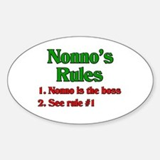 Nonno's Rules Oval Decal