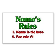 Nonno's Rules Rectangle Decal