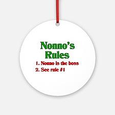 Nonno's Rules Ornament (Round)