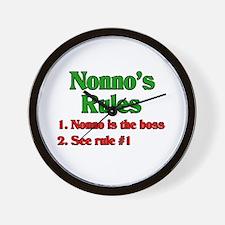 Nonno's Rules Wall Clock