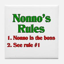 Nonno's Rules Tile Coaster