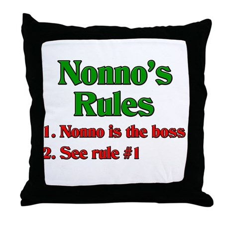 Nonno s Rules Throw Pillow by italianthings