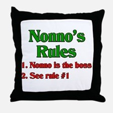 Nonno's Rules Throw Pillow