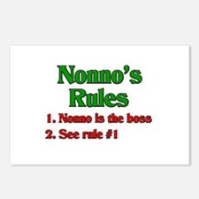 Nonno's Rules Postcards (Package of 8)