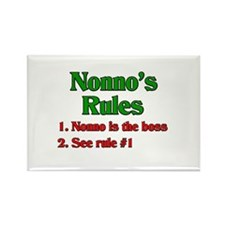 Nonno's Rules Rectangle Magnet