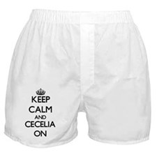 Keep Calm and Cecelia ON Boxer Shorts