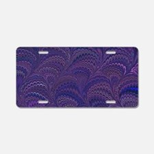 Purple Fanfair Aluminum License Plate